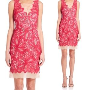 NWT Trina Turk Pink Nude Lace V-Neck Dress